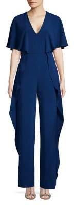 Halston H Ruffled-Side Jumpsuit