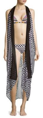 Printed Sleeveless Kimono Vest $139 thestylecure.com