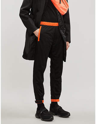 Prada Two-tone mesh and shell jogging bottoms