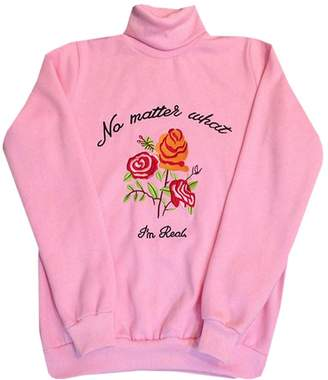 Harajuku Lovers MonaPiya Clothing Store Cute Rose Floral Embroidered Turtleneck Pullover Sweater Size M