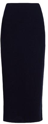The Row Stratski Wool Blend Midi Skirt - Womens - Navy