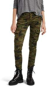 NSF Women's The Vincent Camouflage-Print Cotton-Blend Cargo Pants - Green