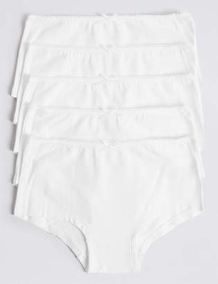 Marks and Spencer 5 Pack Cotton Shorts with Stretch (6-16 Years)
