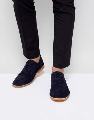 Selected Suede Derby Shoes