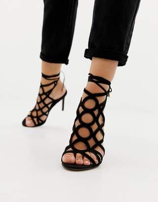 4d81d3063ec Asos Black High Heel Sandals For Women - ShopStyle Australia