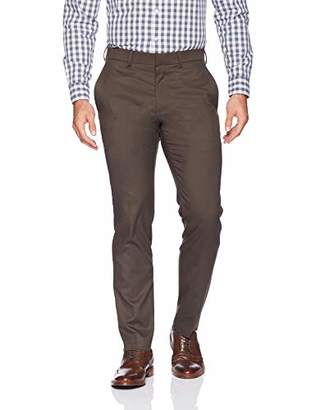 Kenneth Cole Reaction Men's Shadow Check Stretch Slim Fit Dress Pant