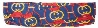 Gucci Gg Logo Print Silk Headband - Womens - Red