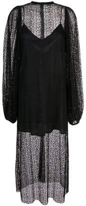 Beaufille layered crochet midi dress