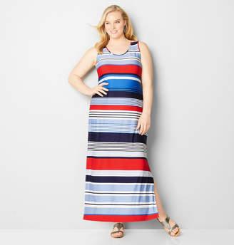 Avenue Multi-Stripe Tank Maxi Dress