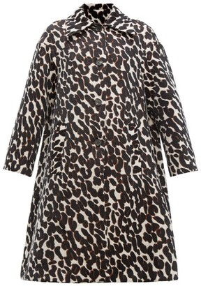 La DoubleJ Single Breasted Leopard Jacquard Coat - Womens - Leopard