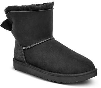 UGG Women's Mini Bow Round Toe Suede & Sheepskin Boots - 100% Exclusive
