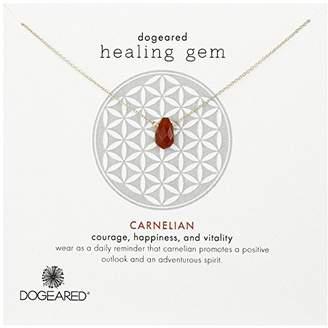 "Dogeared Dogea ""Lasting Healing Gems"" Carnelian Gold Pendant Necklace"