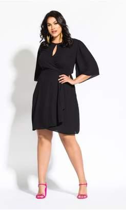 City Chic Citychic Jolie Wrap Dress - black