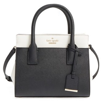 Kate Spade New York 'Cameron Street - Mini Candace' Leather Satchel - Black $199.66 thestylecure.com