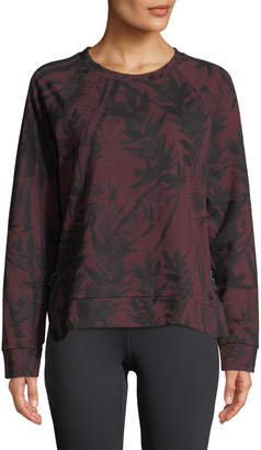 Marc Ny Performance Bamboo-Print French Terry Sweater