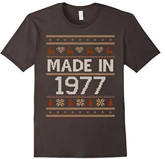 Crochet Christmas Made In 1977 T-shirt 40th Birthday