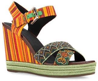 Geox Janira Aztec Wedge Sandals