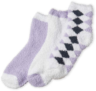 Ellen Tracy 3-Pack Cozy Crew Socks