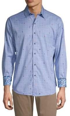 Robert Graham Long-Sleeve Printed Button-Down Shirt