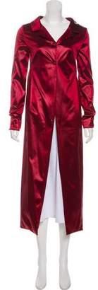 Dolce & Gabbana Satin Long Coat