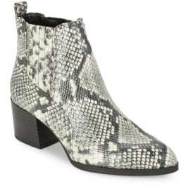 Sam Edelman Snakeskin-Embossed Booties