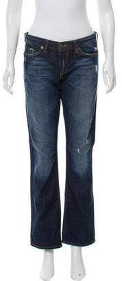 Just Cavalli Mid-Rise Distressed Jeans