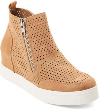 Steve Madden Camel Lero Suede Wedge Sneakers