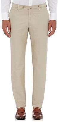 Incotex Men's M-Body Modern-Fit Cotton Trousers - Beige, Tan