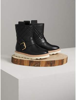 Burberry Quilted Leather Weather Boots
