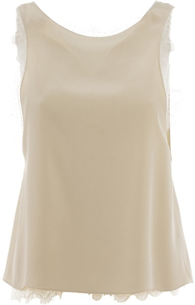 VANESSA BRUNO - Silk tank with lace