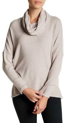 Susina Long Sleeve Fleece Cowl Neck Pullover (Petite)