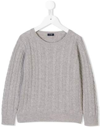Il Gufo cable knit fitted sweater