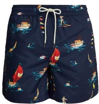 f322985e8e235 Polo Ralph Lauren Nautical Print Swim Shorts - Mens - Navy Multi