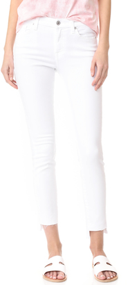 7 For All Mankind Step Hem Skinny Jeans $189 thestylecure.com