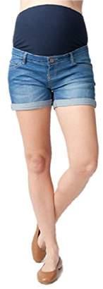 Ripe Maternity Women's Maternity Denim Shorty Shorts