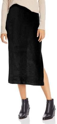 Free People Helen Rib-Knit Velour Midi Skirt