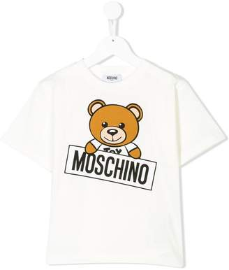 Moschino Kids Teddy logo T-shirt