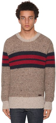 DSQUARED2 Light Wool Blend Jacquard Sweater