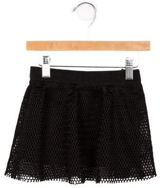 Milly Minis Girls' Mesh Pleated Skirt