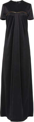Brandon Maxwell Zipper-Detailed Draped Silk Gown