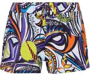Printed Cotton-Canvas Shorts