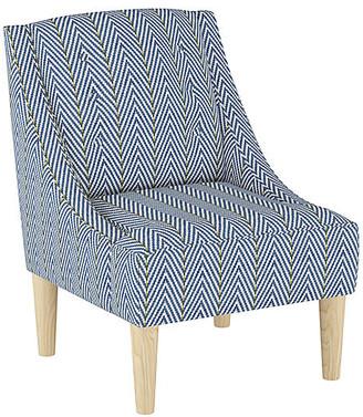 At One Kings Lane · One Kings Lane McCarthy Swoop Arm Chair   Navy Linen