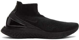 Nike Black Flyknit Rise React Sneakers