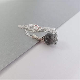 Prisha Jewels Rutilated Tourmalinated Quartz Necklace