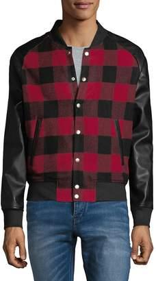 Slate & Stone Men's Checkered Bomber Jacket