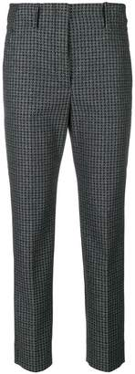 Incotex metallic dogtooth capri trousers