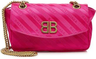 Balenciaga Chain Jacquard Shoulder Bag
