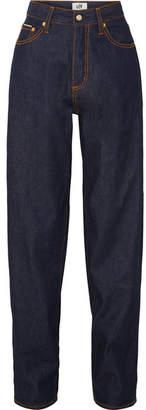 Eytys Benz Raw Mid-rise Wide-leg Jeans - Dark denim