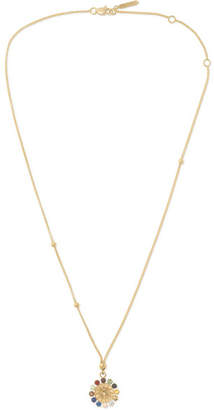 Foundrae Aether 18-karat Gold Multi-stone Necklace - one size