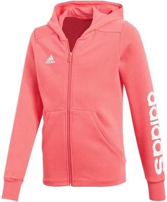 adidas Girls 3 Stripes Mid Hoodie